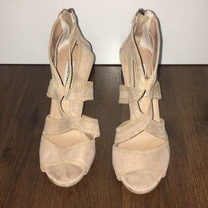 Beige Sude Steve Madden Strappy Sandal